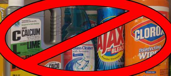 Household chemicals and disinfectants